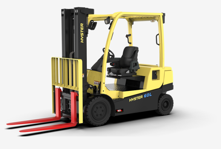 Hyster integrated lithium-ion forklift.